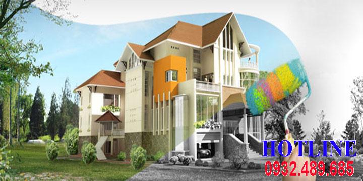 Báo giá sơn nhà mới, Nhà cũ - Nhận sơn lại nhà giá rẻ