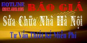 Báo giá dịch vụ sửa nhà giá rẻ Hà Nội