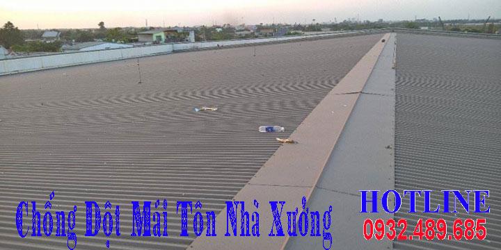 Báo giá chống dột mái tôn nhà xưởng giá rẻ