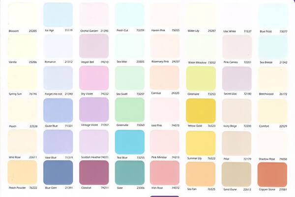 Bảng màu Maxilite nội thất