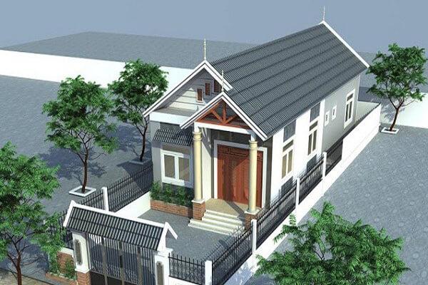 Nhà 1 tầng đơn giản