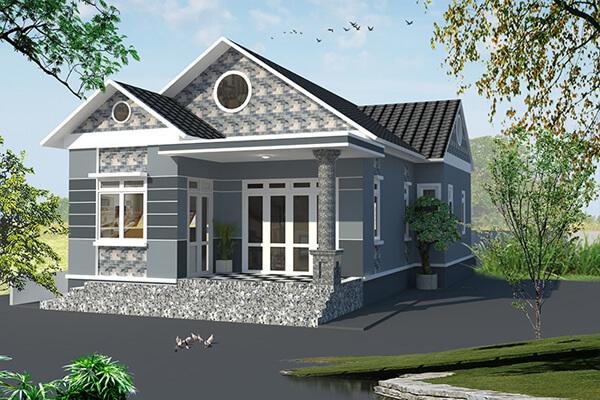 Nhà 1 tầng với phong cách thiết kế phù hợp với khu vực nông thôn