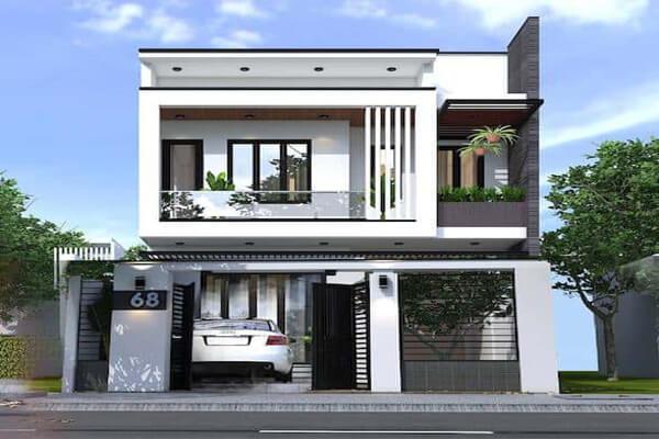 Nhà 2 tầng với thiết kế hiện đại