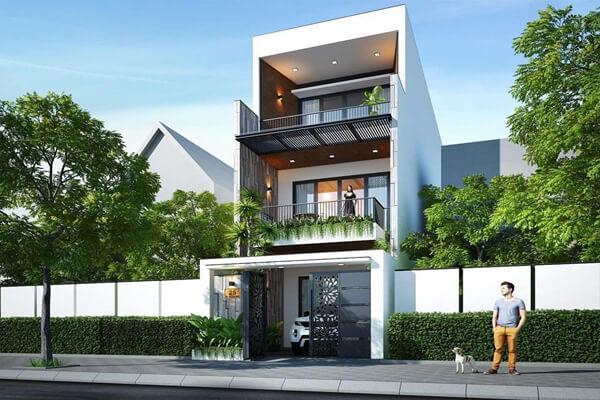 Nhà phố 3 tầng với thiết kế tinh tế
