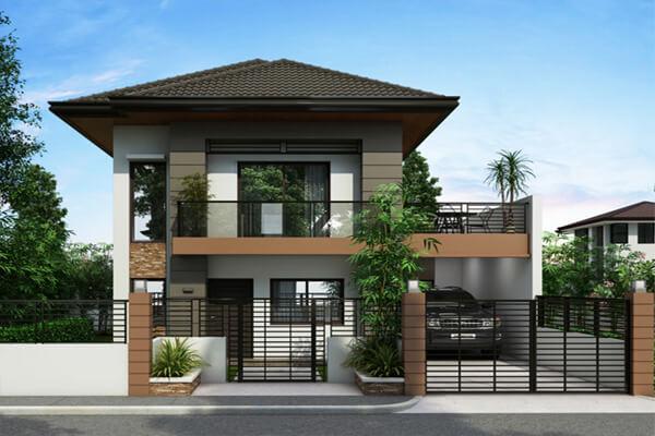 Mẫu nhà phố với kiểu thiết kế sang trọng