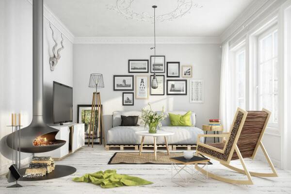 Phòng khách mang phong cách Bắc Âu