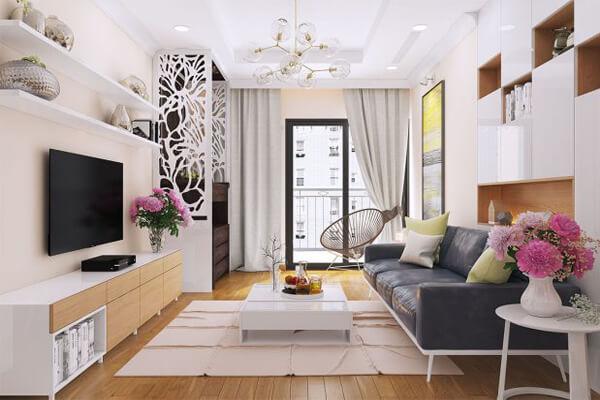 Phòng khách ấn tượng dành cho chung cư