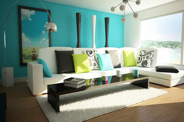 Phòng khách mới lạ với nhiều màu sắc khác nhau